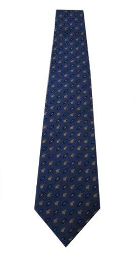 100% Blue Thai Silk Neckties Elephants for Men Thailand Souvenir (Halloween History Documentary For Kids)