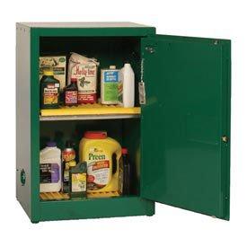 "Eagle PEST25 Pesticide Safety Cabinet, Manual Closing, 1 Door, 23"" Width x 35"" Height x 18"" Depth, 12 Gallon Capacity"