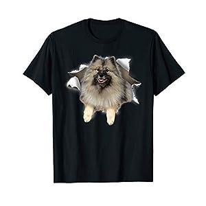 Keeshond Torn Dog Inside Hole Dog Mid Torn, Funny Dog T-Shirt 9