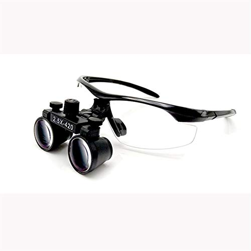 Magnifying Glass with Light Led Lights Dental Loupes Binocular Dentistry Frame 2019 Magnifier Lamp for Jewelry Surgical Loupes (Color : Cut Version, Size : 2.5X)