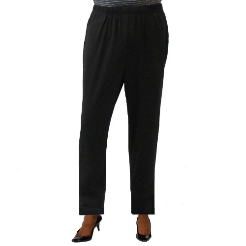 A Personal Touch Women's Plus Size Black Knit Elastic Waist Pull-On Pant - 2X