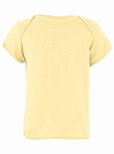 Rabbit Skins 100% Cotton Infant Baby Rib Tee [Size 12 Months] Banana Yellow Short Sleeve T-Shirt
