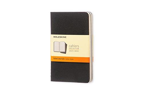 Moleskine Cahier Journal (Set of 3), Pocket, Ruled, Black, Soft Cover (3.5 x 5.5): Set of 3 Ruled Journals
