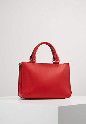 con y Compartimento Cremallera Bolso Mujer Anna con Asa de Cierre de de Field Elegante Mano con Grande Rojo Bolso Asa Bolso Desmontable Bolso A6UqpwZxO6