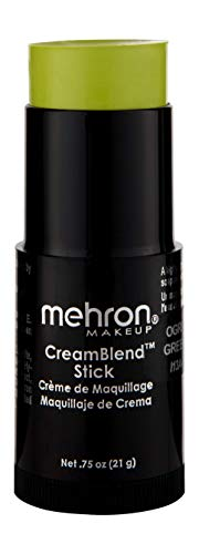 Mehron Makeup CreamBlend Stick (.75 oz) (OGRE GREEN) -