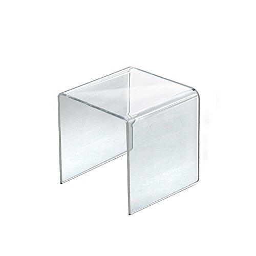 Retail Clear Acrylic Plastic Riser Display 7.5''Square 7.5''W x 7.5''H x 7.5''D