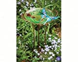 2 PACK Sculpted Butterfly Birdbath with Stand