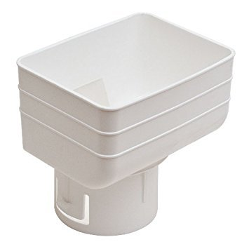 Universal Downspout to Drain Pipe Tile Adapter (White, 3x4x3) by Generic