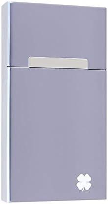 Wuhuizhenjingxiaobu 小片、磁気クラムシェル20の金属シガレットケースはで充填することができます,耐久性 (Color : Silver, Size : 10.8*6*1.7cm)