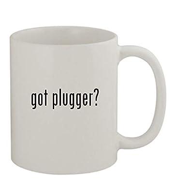 got plugger? - 11oz Sturdy Ceramic Coffee Cup Mug, White