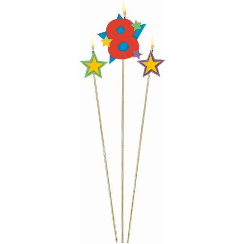 #8 Decorative Birthday Candle & Star Candles| Party Supply