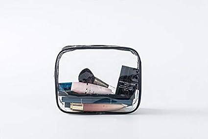 Oyfel Trousse de Toilette de Voyage Avion Vide Transparente Impermeable pour Femme Homme Bebe Fille Garcon Ado Enfant Famille Camping Maquillage 1 Pcs