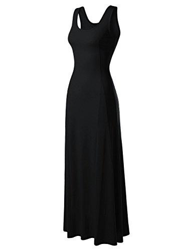 Paisley Dress Goddess - NEARKIN (NKNKWNLD642 Beloved Womens Figure Hugging Sleeveless Maxi Dress Black US M(Tag Size L)