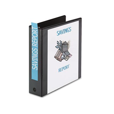 Economy View Binder with Round Rings, 2'' Capacity, Black, Total 12 EA, Sold as 1 Carton