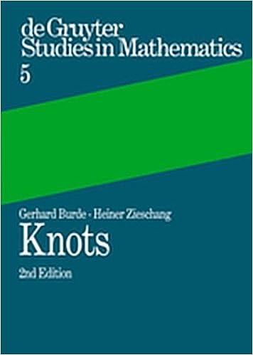 Knots (de Gruyter Studies in Mathematics)