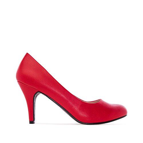 Machado 46 De salon Andres mujer Du Classique Rouge Cuir 32 Charol Tailles am422 7xIqwdIf