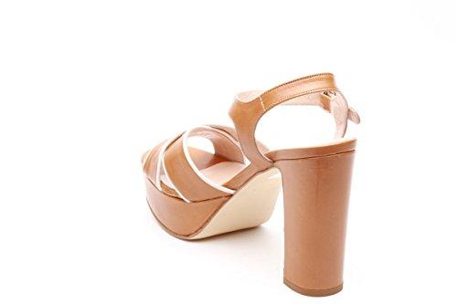 Scarpe italiane sandali tacco alto marrone