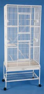 """New Extra Large Wrought Iron 3 Levels Ferret Chinchilla Sugar Glider Cage 30""""Length x 18""""Depth x 72""""Height W/Stand on Wheels *Egg Shell White*"""