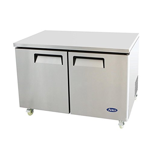 Stainless Steel American Fridge - Atosa Usa MGF8402 Stainless Steel Undercounter 48
