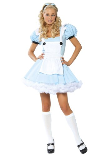 [Alice in Wonderland Costume - X-Large - Dress Size 10-12] (Characters Of Alice In Wonderland Costumes)