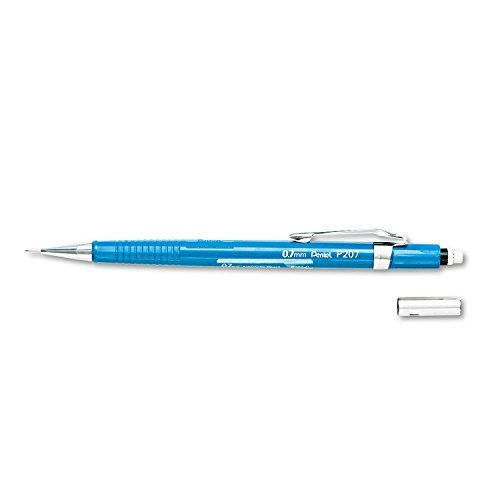 2 X Pentel Sharp Mechanical Pencil, 0.7mm, Blue Barrel, Each (P207C) (Pentel Blue Barrel)
