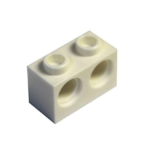 Piezas y piezas de LEGO: Technic White 1x2 con dos agujeros Brick x200