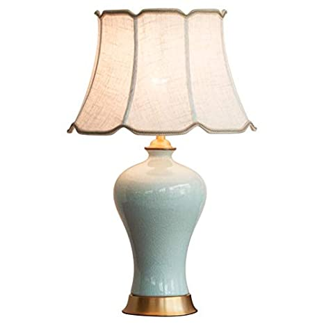 Etonnant Ceramic Bed Table Lamp,Copper American Desk Lamp,Push Button Switch  Creative Decorative Soft