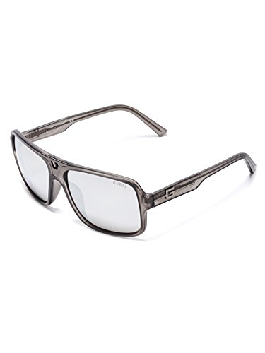 GUESS Factory Men's Matte Navigator - Oval Face For Male Sunglasses Shaped