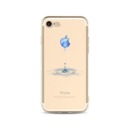 iPhone5 iPhone5s iPhonese 創意 ケース, CrazyLemon 軽量 薄型 カラフル 上絵 おしゃれ 可愛い 水滴 絵柄 アイフォン5 アイフォン5s アイフォンse ソフト TPU シリコン 透明 ケース フィット感がいい 防塵 耐衝撃 - 柄01