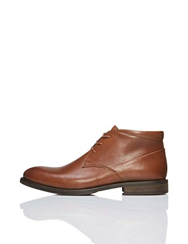 con FIND Cordones Brown Liso Botín Brown Hombre Marrón Zq7ETq