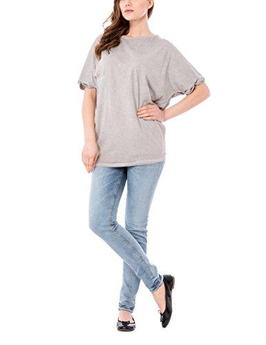 Isabella Roma Maxi LFTN, Blusa Para Mujer Gris (Grey 2243)