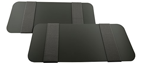Visormates Side Window Sun Visor Extenders (5x12 Gray with Gray Straps) to add to your Existing Volvo XC90 2007+ Driver and Passenger Sun Visors by Visormates
