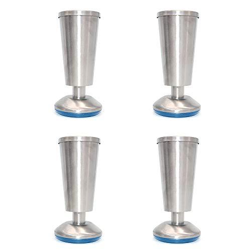 [해외]4 NUZAMAS 장 다리 부엌 다리 작업 최고 컵 모양, 높이 120 mm 단위, 아침 식사 바, 데스크 테이블 다리 가구 다리-스테인리스-0-5 mm 조정 가능한 고도 / 4 NUZAMAS Cabinet Leg Kitchen Foot Worktop, Cup Shape, Height 120mm, Unit, Breakfast B...