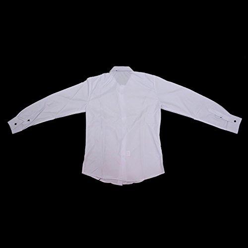 SODIAL (R) NEU Maenner Luxus Langarm Beilaeufiges Passendes Stilvolles Hemd - Weiss - Groesse L