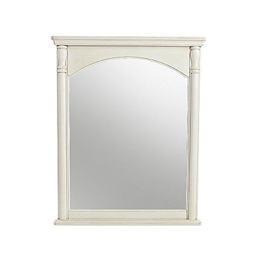 アンティーク調 大型壁掛けミラー W約79×D約5.5×H約99cm ホワイト 壁掛けミラー ウォールミラー 壁掛け鏡 壁掛け アンティーク家具 アンティーク風 アンティーク インテリア 家具 ミラー 鏡 姿見 姿見鏡 全身鏡 シャビーシック シャビー 白 antiqueh730wh B01EMUBOWG