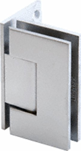 C.R. LAURENCE GEN544SC CRL Satin Chrome Geneva 544 Series Wall Mount Offset Back Plate Hinge