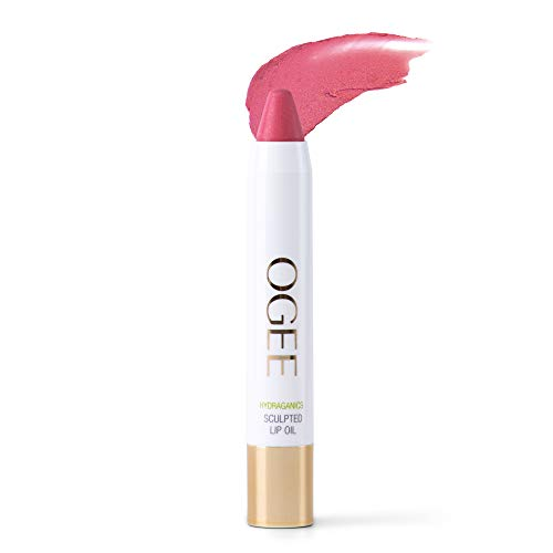 Ogee Sculpted Tinted Lip Oil - Organic & Natural Lip Primer, Moisturizer & Treatment Balm - Camellia (Classic Pink Color)