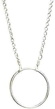 Handmade Silver Karma Necklace Circle Necklace Silver Loop Artisan Made