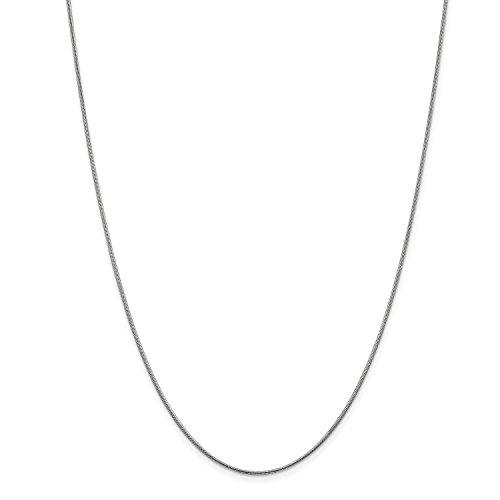 Roy Rose Jewelry 14K White Gold 1.1mm Round Snake Chain Bracelet ~ Length 8'' inches 8' Snake Chain Bracelet