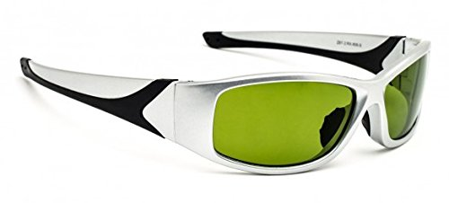 Shade #2 Polycarbonate Glassblowing Glasses in Silver Extreme Wrap Safety - Glasses Glassblowing