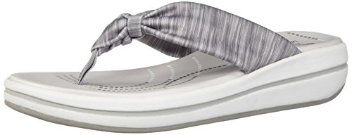 Skechers Women's Upgrades-Spaces-Heathered Scarf Thong Flip-Flop, Grey, 9 M US by Skechers