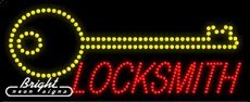 Locksmith LED Sign - 27 x 11 x 1 inches - Made in - Sign Locksmith Led
