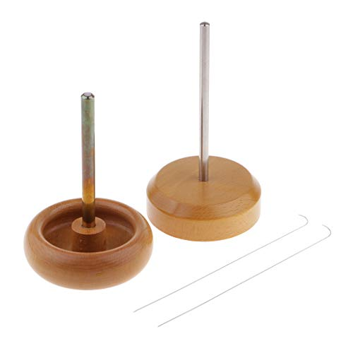 Bead Spinner Stringing Tool - SM SunniMix Wood Bead Spinner Spin and String Loader Seed Bead Stringing Tool & Curved Beading Needles Set Picks The Beads Up Quickly Perfect for Very Small Beads