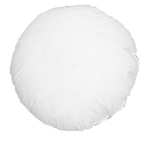(14 X 14 Round Cluster Fiber Pillow Form Insert Hypo-allergenic Made in USA)