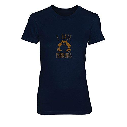 Snorl Mornings - Damen T-Shirt, Größe: S, dunkelblau
