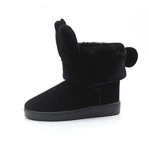tempo neve spesso donna da black libero fine due moda da indossare donna stivali stivali Scarpe alla MEILI da zpxg6qZn