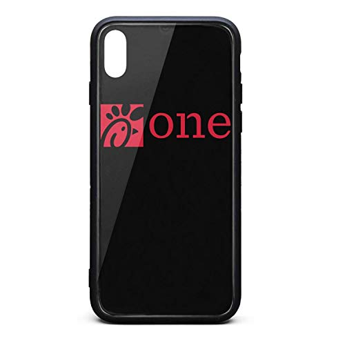 YJRTISF iPhone Xs Case Shockproof Case Glass Rear Cover 9H Tempered Glass Back Cover Chick-fil-A-Logo- Scratch Resistant Soft TPU Material Bumper for iPhoneXs