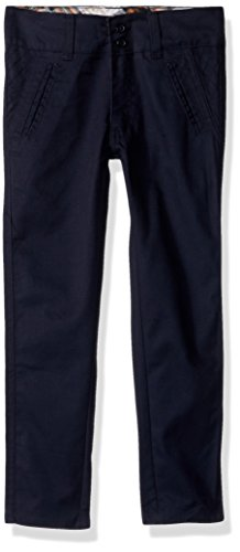 Eddie Bauer Big Girls' Twill Pant (More Styles Available), Navy-PQHK, 14