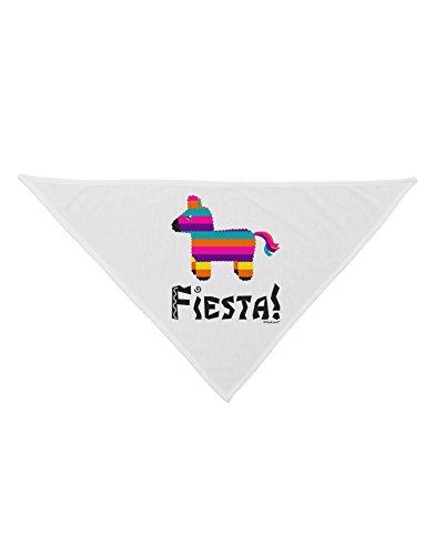 TooLoud Colorful Pinata Design - Fiesta Printed White Dog Bandana 26'' by TooLoud