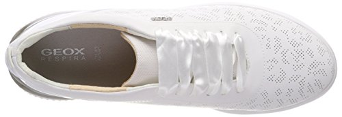 Theragon white Sneakers Geox D Basses C Femme Blanc 588Swqgn